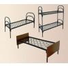 Металлические кровати двухъярусные для строителей,  кровати для санатория,  кровати для пансионата,  кровати армейские