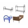 Двухъярусные металлические кровати оптом.  Кровати для общежитий,  кровати для хостелов,  кровати для интернатов от производителя.  Кровати оптом